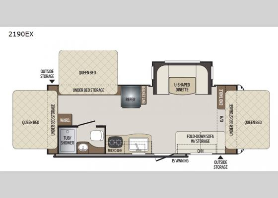 Floorplan - 2021 Bullet Crossfire 2190EX Expandable
