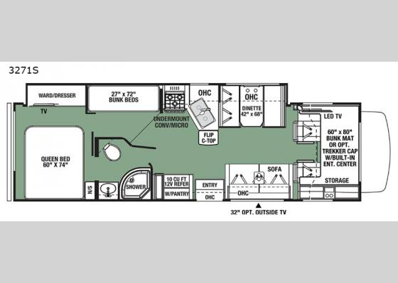 Floorplan - 2021 Forester 3271S Ford Motor Home Class C