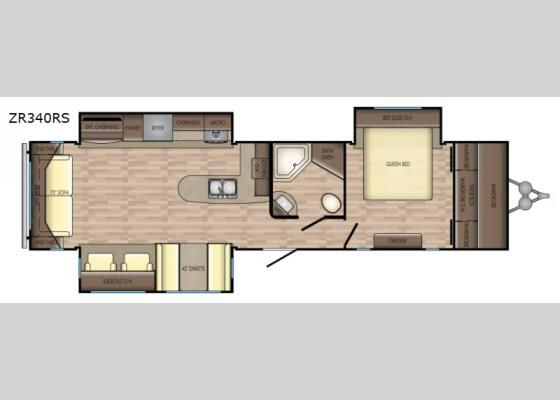 Floorplan - 2019 Zinger ZR340RS Travel Trailer