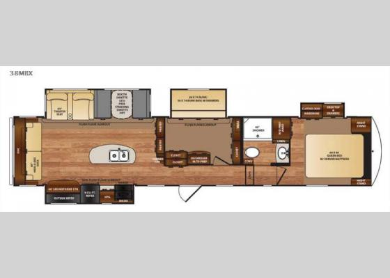 Floorplan - 2018 Wildcat 38MBX Fifth Wheel