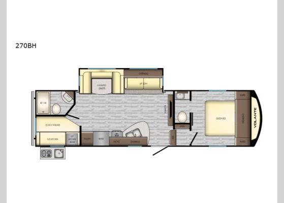 Floorplan - 2020 Volante 270BH Fifth Wheel