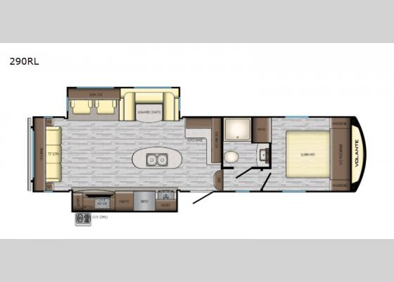 Floorplan - 2020 Volante 290RL Fifth Wheel