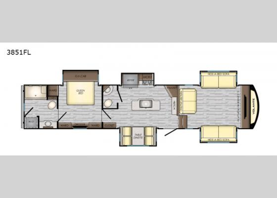 Floorplan - 2020 Volante 3851FL Fifth Wheel