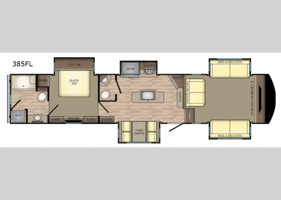 Floorplan - 2019 Volante 385FL Fifth Wheel