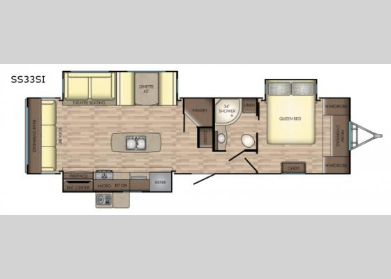 Floorplan - 2019 Sunset Trail Grand Reserve SS33SI Travel Trailer
