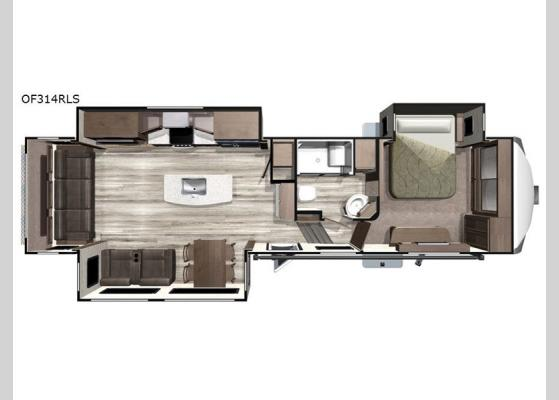 Floorplan - 2020 Open Range OF314RLS Fifth Wheel