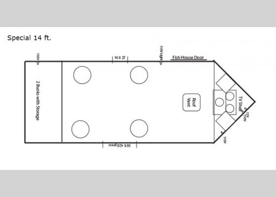 Floorplan 2019 Ice Castle Fish Houses Special 14 Ft House