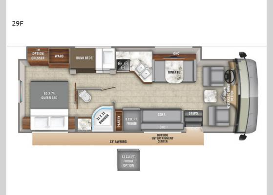 Floorplan - 2020 Vision 29F Motor Home Class A
