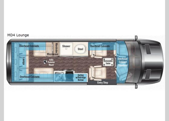 Floorplan - 2020 Passage MD4 Lounge Motor Home Class B - Diesel