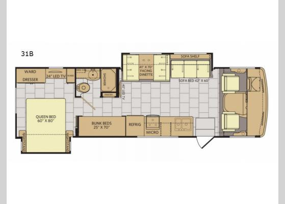 Floorplan - 2018 Flair LXE 31B Motor Home Class A