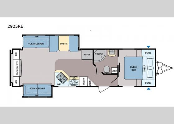 Floorplan - 2020 Coleman Light 2925RE Travel Trailer