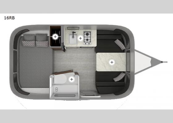 Floorplan - 2020 Caravel 16RB Travel Trailer