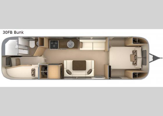 Floorplan - 2020 Flying Cloud 30FB Bunk Travel Trailer