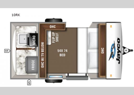Floorplan - 2020 Hummingbird 10RK Travel Trailer