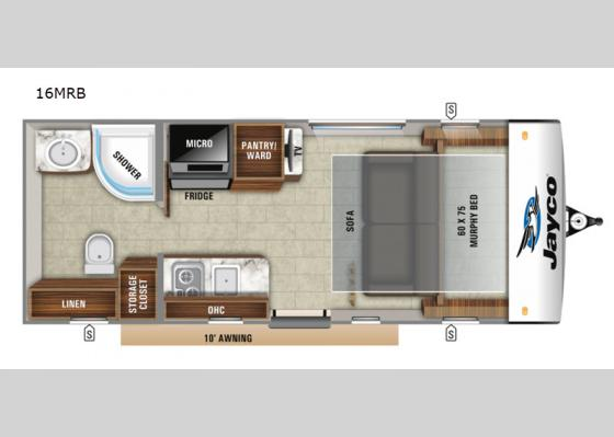 Floorplan - 2020 Hummingbird 16MRB Travel Trailer