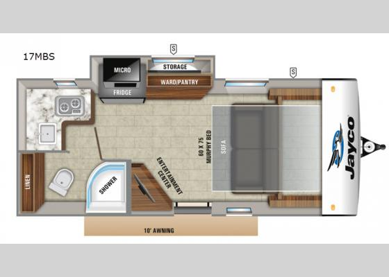 Floorplan - 2020 Hummingbird 17MBS Travel Trailer