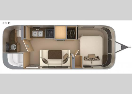 Floorplan - 2021 Flying Cloud 23FB Travel Trailer