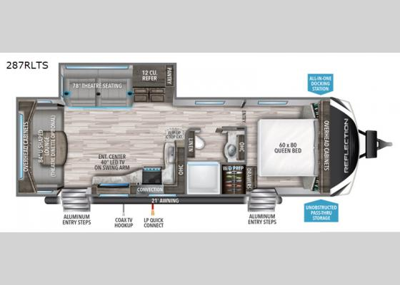 Floorplan - 2020 Reflection 287RLTS Travel Trailer