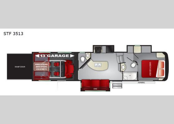 Floorplan - 2020 Stryker STF-3513 Toy Hauler Fifth Wheel