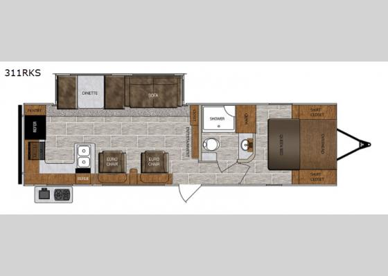 Floorplan - 2021 Wildcat 311RKS Travel Trailer