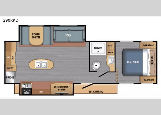 Floorplan - 2020 BX Series 290RKD Travel Trailer