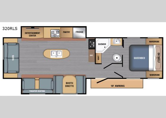 Floorplan - 2020 LX Series 320RLS Travel Trailer
