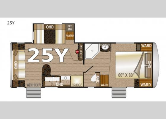 Floorplan - 2020 Arctic Fox North Fork 25Y Travel Trailer