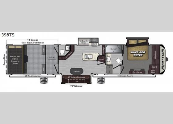 New Keystone Rv Raptor 398ts Toy Hauler Fifth Wheel For Sale