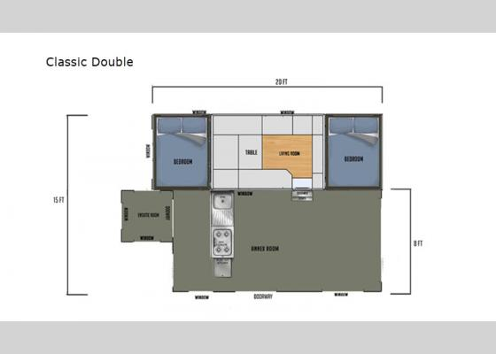 Floorplan - 2021 Black Series Camper Classic Double Folding Pop-Up Camper