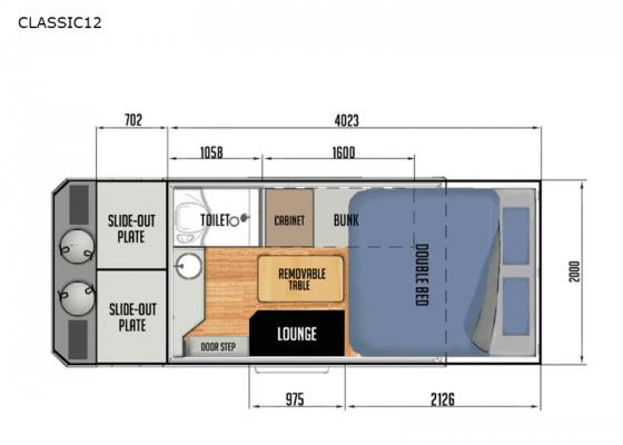 Floorplan - 2021 Black Series Camper CLASSIC12 Travel Trailer