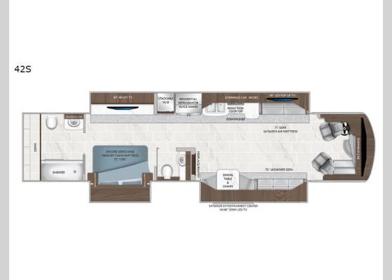 Floorplan - 2020 Dream 42S Motor Home Class A - Diesel