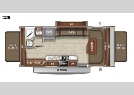 Floorplan - 2021 Jay Feather X23B Expandable
