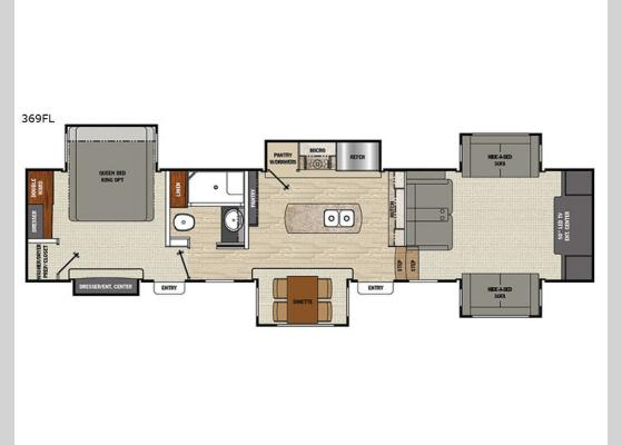 Floorplan - 2018 Brookstone 369FL Fifth Wheel
