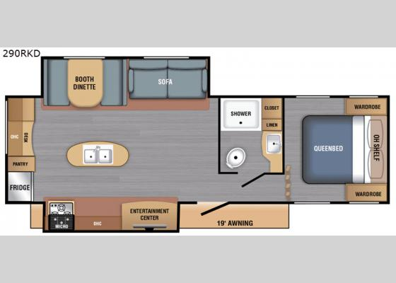 Floorplan - 2021 LX Series 290RKD Travel Trailer