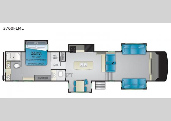 Floorplan - 2020 South Fork 3760FLML Fifth Wheel