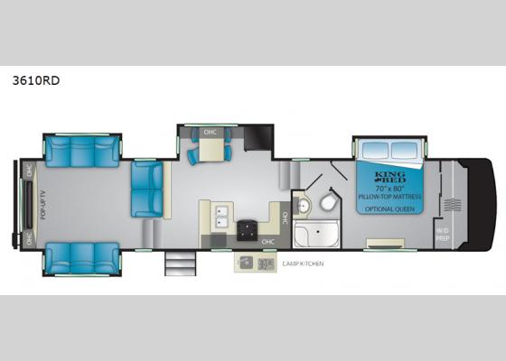 Floorplan - 2020 South Fork 3610RD Fifth Wheel