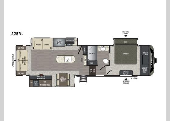 Floorplan - 2019 Laredo 325RL Fifth Wheel