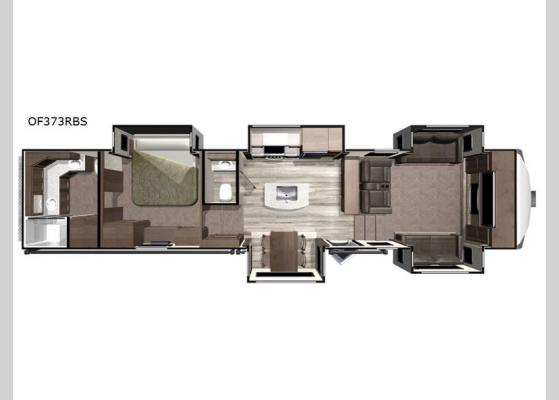 Floorplan - 2019 Open Range OF373RBS Fifth Wheel