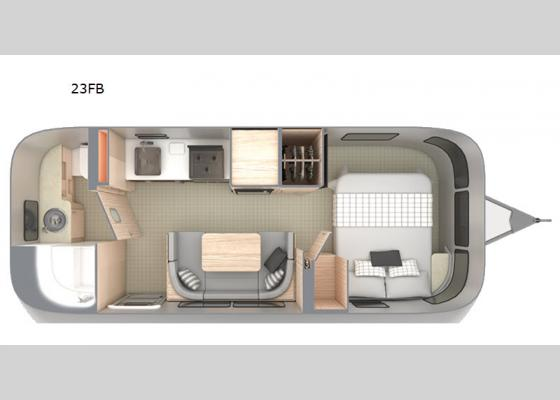 Floorplan - 2021 Globetrotter 23FB Travel Trailer