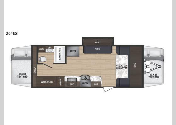 Floorplan - 2018 Aerolite 204ES Expandable