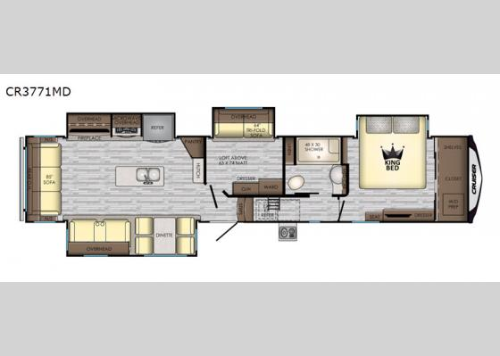 Floorplan - 2019 Cruiser CR3771MD Fifth Wheel