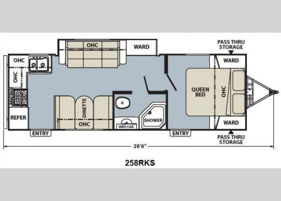 Floorplan - 2012 Apex Ultra-Lite 258 RKS Travel Trailer