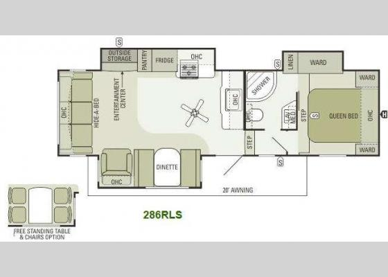 Floorplan - 2014 Travel Star 286RLS Fifth Wheel