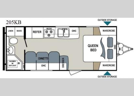 Floorplan - 2015 Aerolite 205KB Travel Trailer