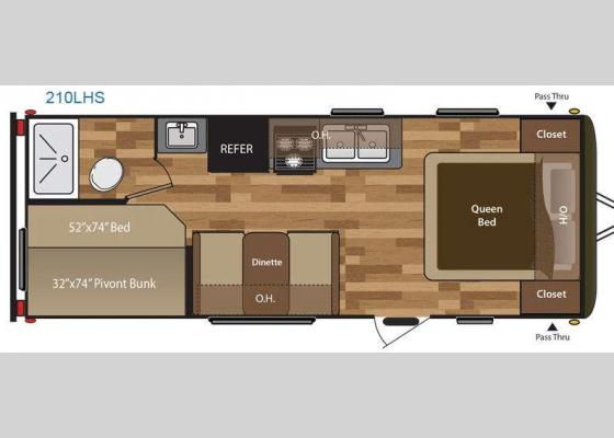 Floorplan - 2016 Hideout 210LHS Travel Trailer