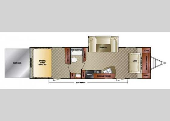 Floorplan - 2016 SportTrek 300VTH Toy Hauler Travel Trailer