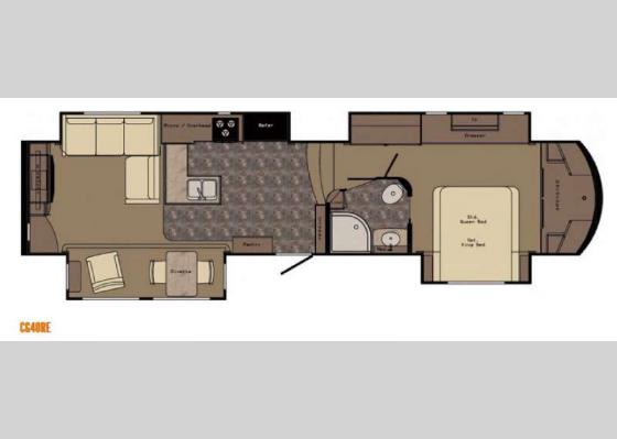 Floorplan - 2017 Carriage CG40RE Fifth Wheel