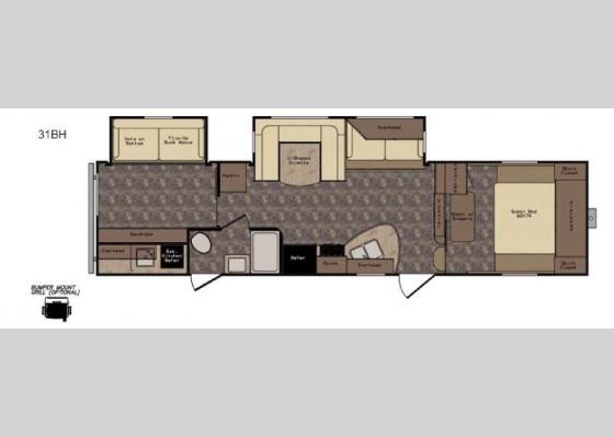 Floorplan - 2017 Longhorn ReZerve LFZ31BH Fifth Wheel