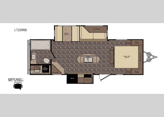 Floorplan - 2017 Longhorn ReZerve LTZ26RB Travel Trailer
