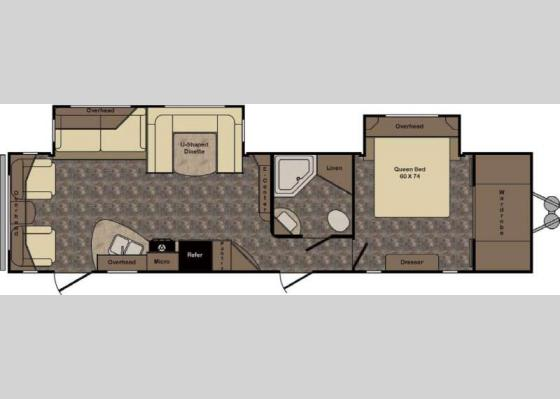 Floorplan - 2017 Longhorn ReZerve LTZ34RL Travel Trailer